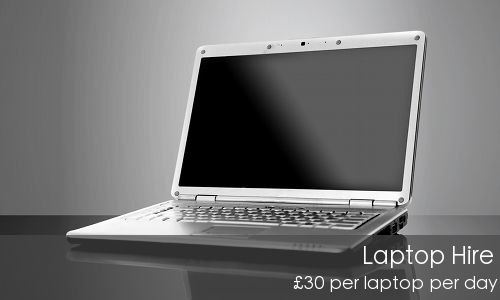 Hire laptops for your training at £25 per laptop per day.